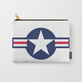 US Airforce style roundel star - High Quality image Carry-All Pouch