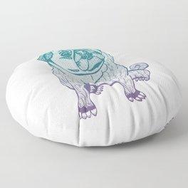 Duotone Pug Floor Pillow