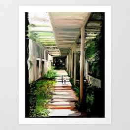 71 - IIMB green pergola's Art Print