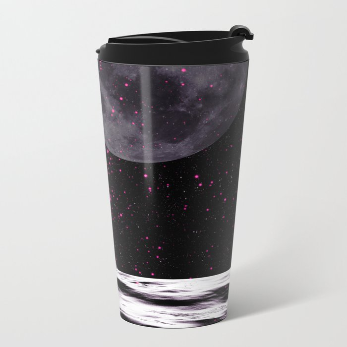 PINK UFO Metal Travel Mug