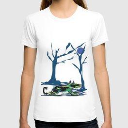 """Wolfdog"" Paulette Lust Original, Contemporary, Whimsical, Colorful Art T-shirt"