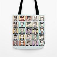 enerjax Tote Bags featuring Benedict the Actor by enerjax