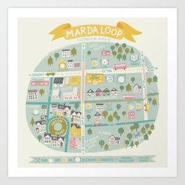 Neighbourhood Map Art Print