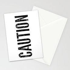 Caution Stationery Cards