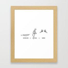 HOW DO YOU FLY? Framed Art Print