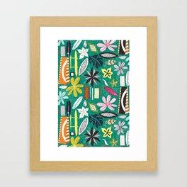 beachy jade Framed Art Print