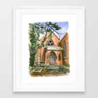 ben giles Framed Art Prints featuring St. Giles by Anthony Billings