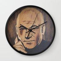 picard Wall Clocks featuring Jean-Luc Picard (Patrick Stewart)  by Andulino