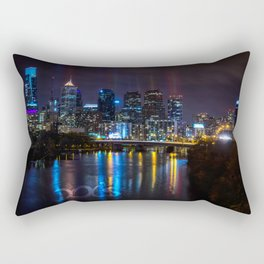 Philly Skyline Glowing Rectangular Pillow
