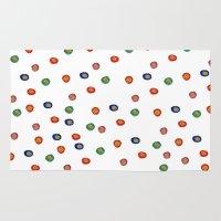 polka dots Area & Throw Rugs featuring Polka Dots  by BriannaCamp