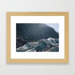 carving the ice Framed Art Print