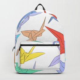 Japanese Origami paper cranes symbol of happiness, luck and longevity Backpack