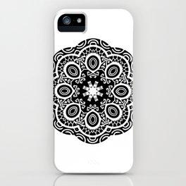 Polynesian style mandala tattoo 2 iPhone Case