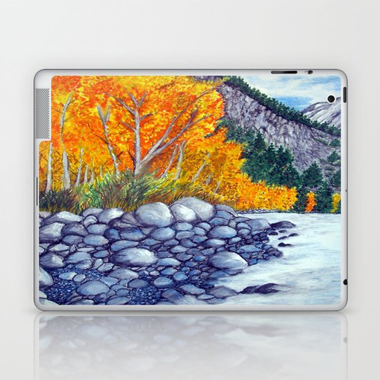 Along the lake.. Laptop & iPad Skin