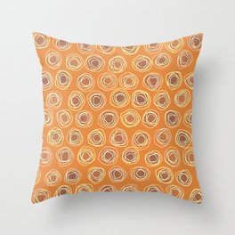 Gotta Be So Orange and Loopy Abstract Throw Pillow