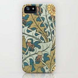 Art Nouveau Dandelion Pattern iPhone Case