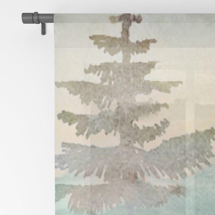Pine Trees Sheer Curtain