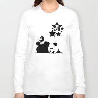 sleep Long Sleeve T-shirts featuring Sleep by Panda Cool