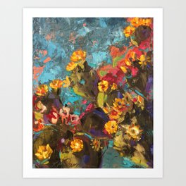 Cactus Abstraction Art Print