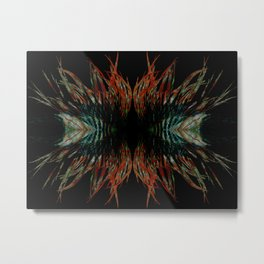 Sacred feathers geometry Metal Print