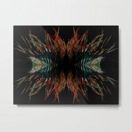 Sacred feathers geometry Metal Print