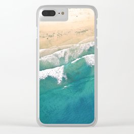 Turquoise Sea Beach Clear iPhone Case