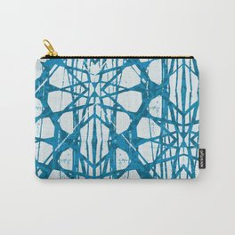 Blue and White Batik  Carry-All Pouch