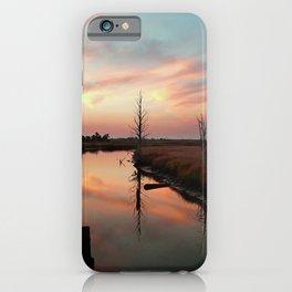 Sunset on Smith Creek Wilmington, NC iPhone Case