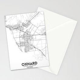 Minimal City Maps - Map Of Oxnard, California, United States Stationery Cards