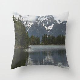 Grand Teton National Park III - Wanderlust Adventure Throw Pillow