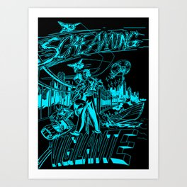 Screaming Vigilante Art Print