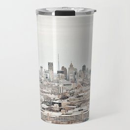 Downtown Detroit Skyline View from New Center Travel Mug