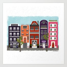canal houses :: 2 of 2 Art Print