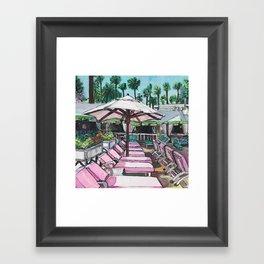 Beverly Hills Hotel Pool Framed Art Print