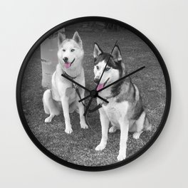 Nika and Blu Wall Clock