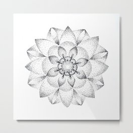 Dotts Mandala Metal Print