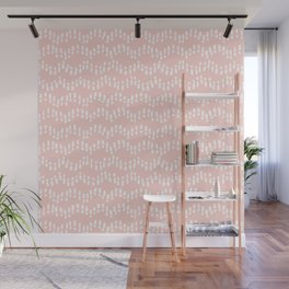 Footsteps in the Sand // Blush Pink Wall Mural