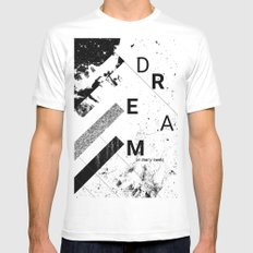 DREAM on many levels White Mens Fitted Tee MEDIUM