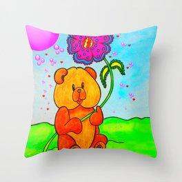 Dudley The Bear Throw Pillow
