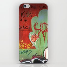 next time you kiss do it in french iPhone Skin