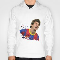 messi Hoodies featuring Messi  by Abhikreationz