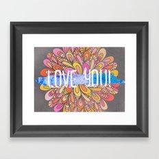 Love you - Boho Gypsy Soul Mandala Framed Art Print