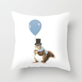 party squirrel Throw Pillow