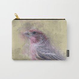 Rosey House Finch Carry-All Pouch
