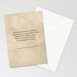 Gabriel Garcia Marquez Quote 02 - Typewriter Quote on Old Paper - Minimalist Literary Print Stationery Cards