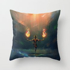 Firebender Throw Pillow