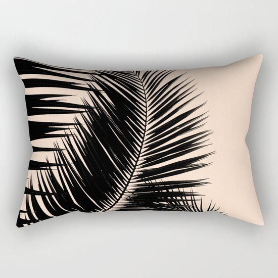 Palms on Pale Pink Rectangular Pillow