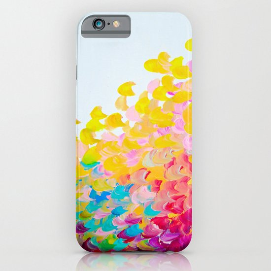 CREATION IN COLOR - Vibrant Bright Bold Colorful Abstract Painting Cheerful Fun Ocean Autumn Waves iPhone & iPod Case