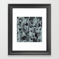 Black and Smokey Blue Pastels 3216 Framed Art Print
