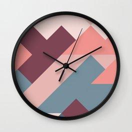 Geometric Mountains 02 Wall Clock